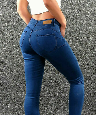 HAILYS Push Up Stretch Jeans dk. Blau XS 34 sexy Damen Slim Fit Skinny Pants KLT