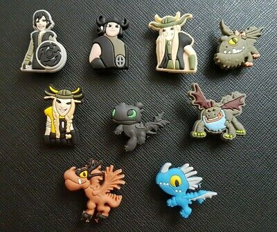 9 x How To Train Your Dragon Shoe Charms Made For Croc shoes Crocs Jibbitz Charm