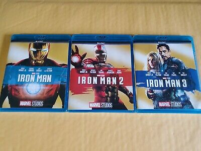 Iron Man 1,2,3 Trilogy Blu-Ray Marvel Movies New with Free Shipping