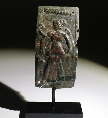 Superb Ancient Greek Bronze Armour Plate Victory  - Circa  400Bc