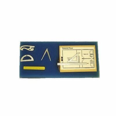 Dollhouse Architect Drafting Set Miniature Handcrafted for 1:12 Doll House