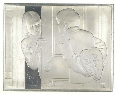 The First Date - Norman Rockwell Sterling Silver Art Bar - .925 - 100.8g *047