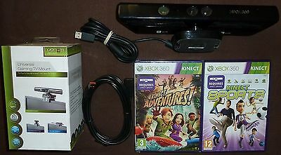 MICROSOFT XBOX 360 S SLIM OFFICIAL KINECT SENSOR TV MOUNT 2 GAME Sport Adventure