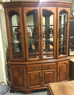 Exceptional Stunning Quality Bow Front Retail Shop Glass Display Cabinet Antique
