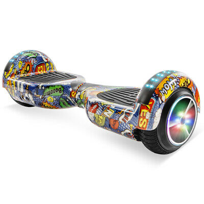 """6.5"""" Hoverboard Bluetooth Electric Self Balance Scooter with Graffiti Design LED"""