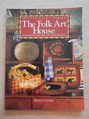 The Folk Art House~Kate Coombe~Designs For Folk Art & Tole Painting~65pp P/B