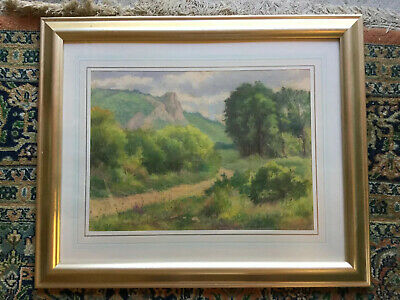 Framed Pastel Possibly American School 1920s