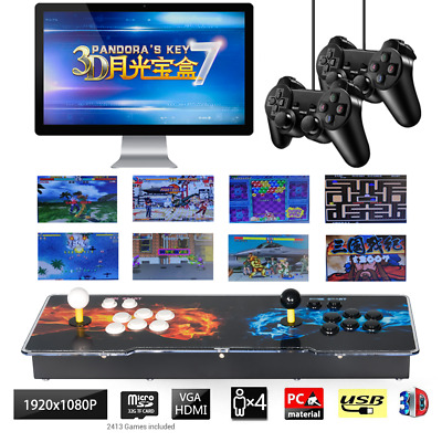 4 Players 2413 3D Pandora's Box Key 7 Retro Arcade Console Machine USB Gamepad