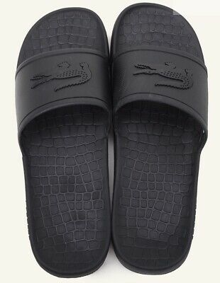 Mens LACOSTE Fraisier Slides In Black. Size US 11, Brand New.  EXPRESS POSTAGE