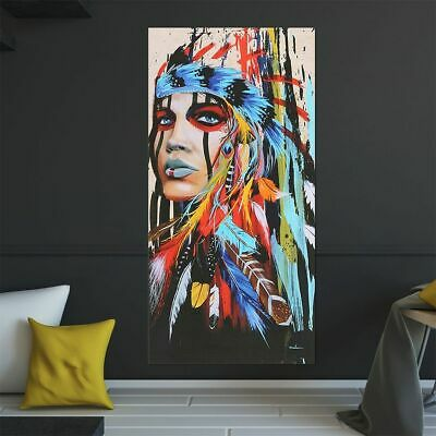 Art Decor Abstract Indian Woman Canvas Oil Painting Print Picture Home Wall Hang