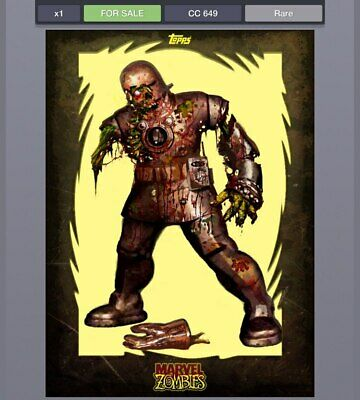 DIGITAL Topps Marvel Collect Zombies Iron Man cc649 Rare