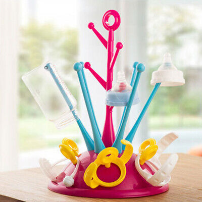 Baby Bottle Storage Multifunctional Cleaning Drainer Shelf Drying Rack Hanging