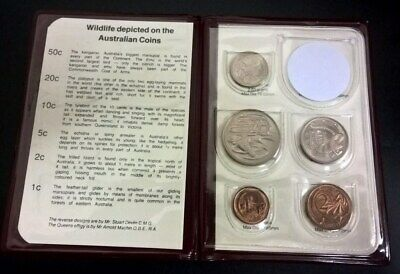 1968 Coin Set - Complete Date Set  -*1 Cent To 20 Cent* - 5 Coins - Uncirculated