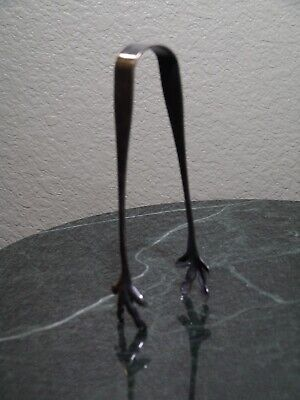 Vintage Reed & Barton Chicken Claw Foot Tongs