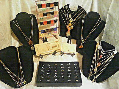 70+Pc.MIXED JEWELRY~LOT! RINGS/Earrings/GEMSTONES&MIXED Necklaces/GOLD$100 bgr