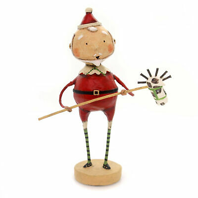 Lori Mitchell HORSING AROUND SANTA Polyresin Christmas Pogo Stick Horse 11087