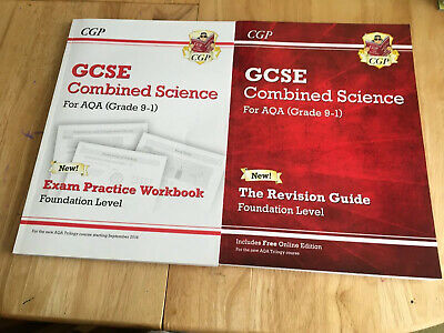 2 Cgp Gcse Aqa Combined Science Revision & Exam Workbk Foundation Grade 9-1 Good