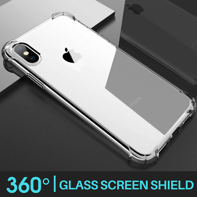 For iPhone 11 Pro Max XR X XS 6 7 Max CLEAR Case Cover Silicone Shockproof TOUGH