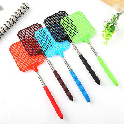 Handheld Insect Extendable Bug Killer 73cm Reusable Catcher Plastic Fly Swatter