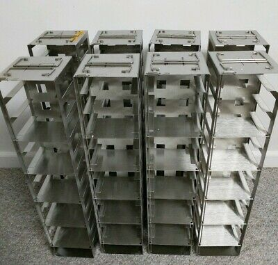 Stainless steel racks for chest freezers or LN2 tanks; $40 each; 8 available