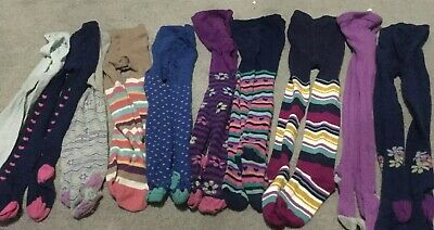 10 Pairs Of Girls Tights (mainly John Lewis) Age 7-8 Yrs