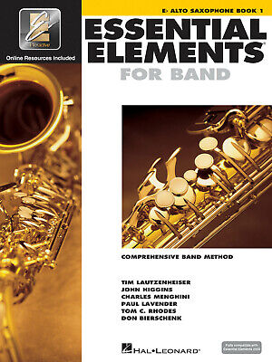 Essential Elements for Band Eb Alto Saxophone Book 1 Beginner Music Online Media