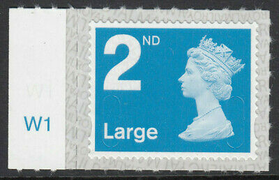 GB 2019 2nd LARGE S/A MACHIN M19L CYLINDER W1 on SELVEDGE MNH From Counter Sheet