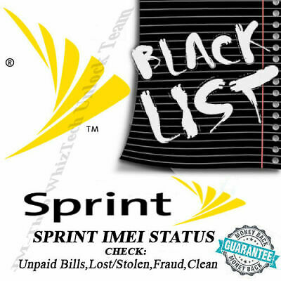 Sprint Usa Imei Clean/Blocked/Unpayed/Fraud Status Check Report Service - Pro