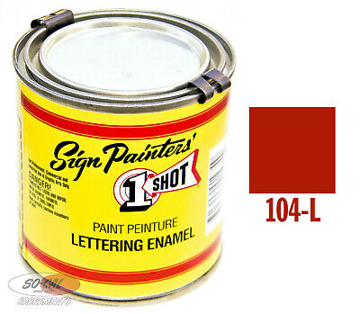 1 Shot Paint Bright Red 1/4 Pint Lettering Enamel Hot Rod Custom Pinstriping