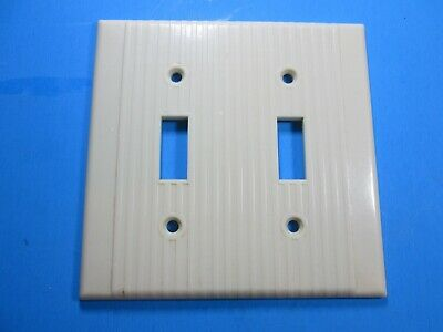 Leviton Ivory Ribbed 2 ganged Switch Cover Plate
