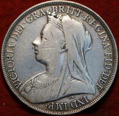 1895 Great Britain 1 Crown Silver Foreign Coin