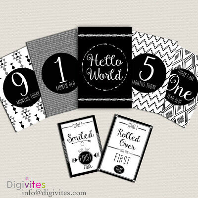 Baby Milestone Cards, Baby Moments and Milestones, TRIBAL, CLEARANCE SALE