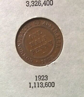 1911 To 1964 Half Penny Album Collection -*Inc 1923 Half Penny*- In Dansco Album