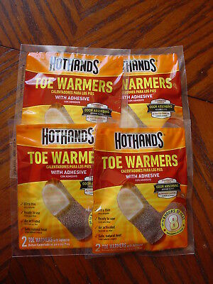 Set Of 4 Hothands Toe Warmers With Adhesive, Exp 12/21 Nip