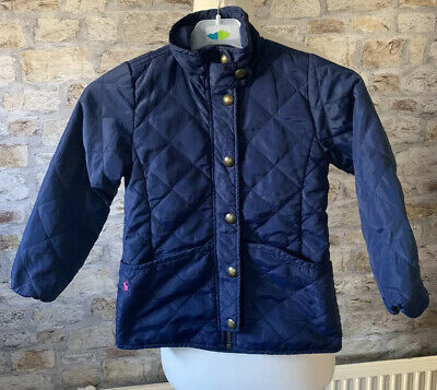 Baby Girls Joules Quilted Jacket Coat Age 6 Navy Blue Winter Designer