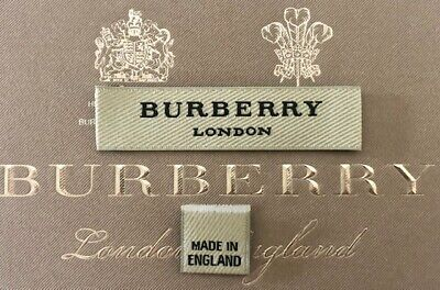 Orig. Burberry Logo Etikett Tags Clothing Labels Jacke Kleid Mantel Shirt Schal