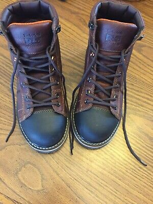 """TIMBERLAND PRO Men's GRIDWORKS 6"""" ALLOY TOE WORK BOOTS A1GNL Brown 8.5M"""