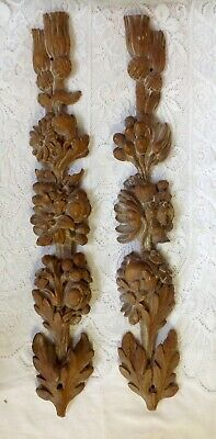 Antique Chinese Pr Hand Carved Architectural Plaster Mouldings Fruits & Berries