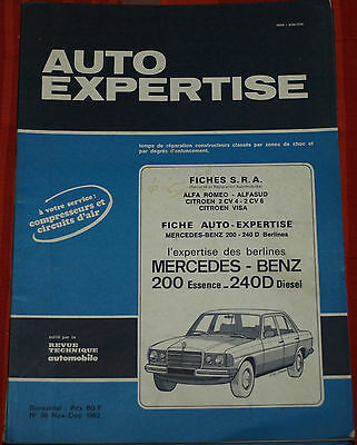 RTA Revue Technique Auto Expertise Mercedes 200 Essence et 240 D Diesel