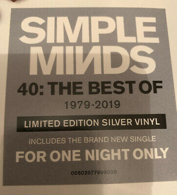 LIMITED DOUBLE SILVER VINYL SEALED LP. 40 The Best Of Simple Minds.