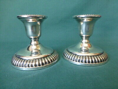 Antique Birks Sterling Silver Weighted Candle Sticks