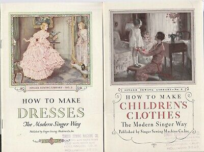 Singer Sewing Machines 3 1930'S-How To Make Children's Clothes,Dresses,Drapes