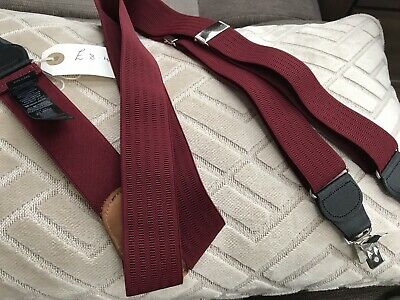 Braces Suspenders Mens Vintage Style  CLIP ON MARKS & SPENCER M&S Ideal Goodwood