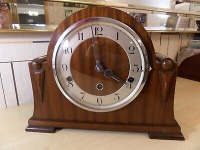 Nice Westminster Chime Mantle Clock, Runs But Pendulum Mount Spring Is Broken