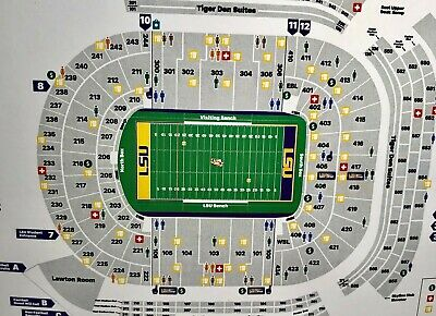 2 Lower-bowl, LSU vs Arkansas goal line, tickets. Sect. 243, Row 2.  Fr Transfer