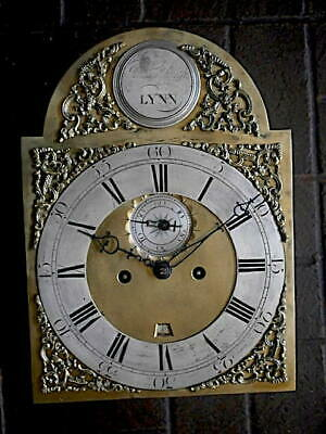 C1750 8 day   LONGCASE GRANDFATHER CLOCK DIAL+movement 12X16+1/2     JAMES SMITH