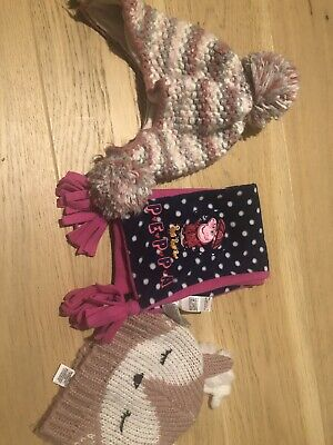 Girls Hats And Scalfs Age 1-3 Years Next, M&s - Peppa Pig