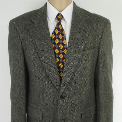 38 R (40 R) Austin Reed Gray Tweed Pure Wool Mens 2 Btn Jacket Sport Coat Blazer