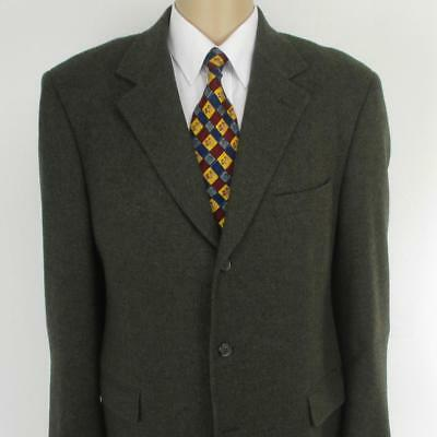 43 R Brooks Brothers Brown Tweed Wool 3 Btn Mens Jacket Sport Coat Blazer (42)