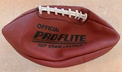 1980's Spalding Pro-Flite Top Grain Leather NFL Official Size 13lbs USA Football